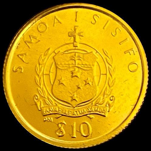 1/25 oz Gold $10 Samoa 1995