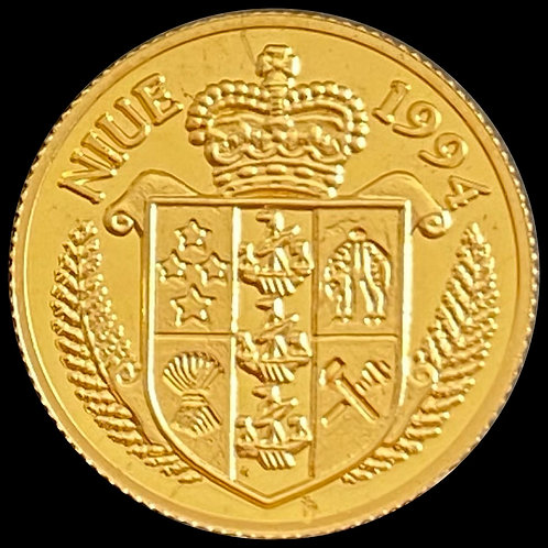 1/25 oz Gold $25 Niue 1994
