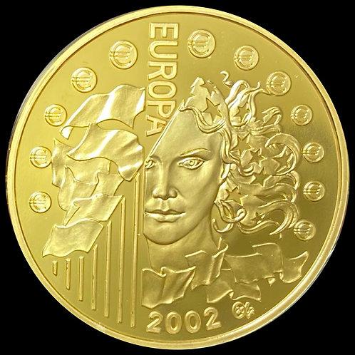 17g .925 Gold 20 Euro 2002 France