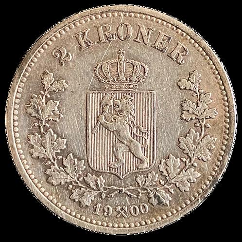 2 Kr 1900 Kv.1  SOLGT