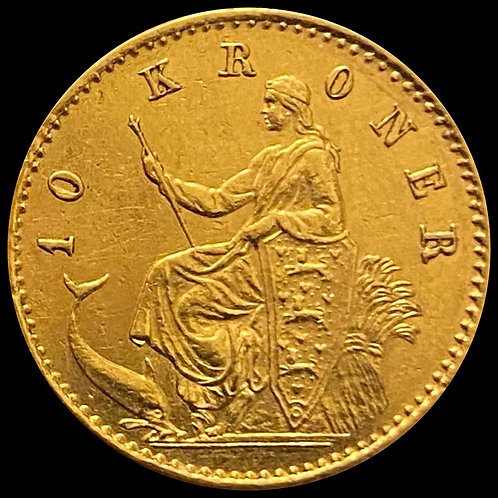 10 Kr 1874 Danmark SOLGT