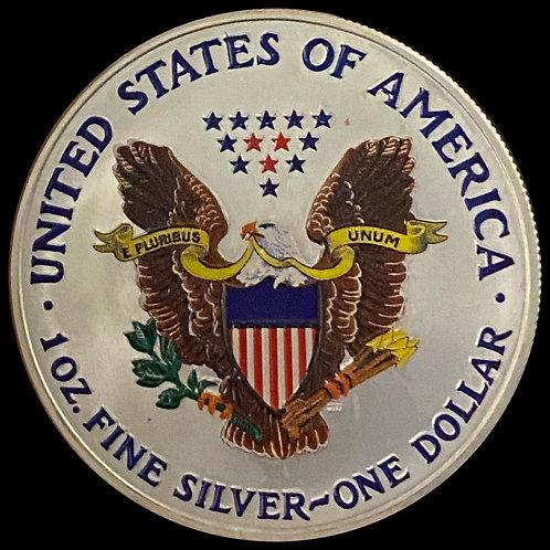 1 oz Silver Eagle painted Walking liberty 2006