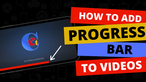 How to add Gary Vee like progress bar in your Videos| Updated 2020
