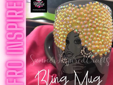 Afro Inspired Bling Mug