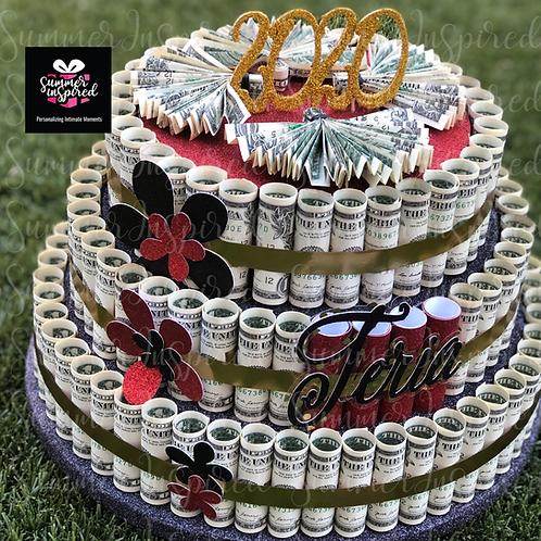 Personalized Money Cake - Gift - Graduation - Wedding - Birthday