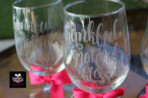 Thankful Grateful Blessed Goblets