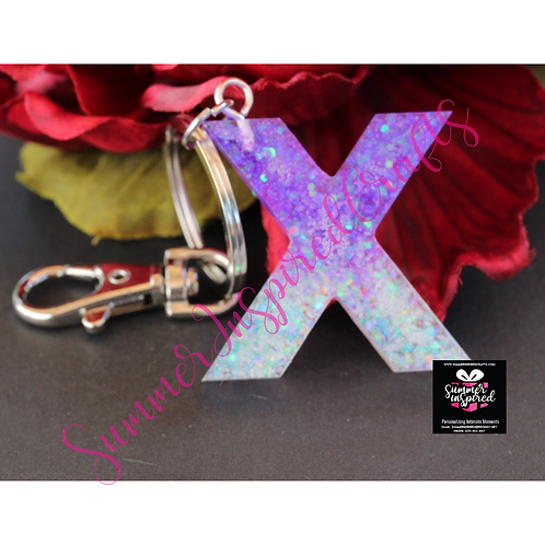 Handcrafted Letter Keychains
