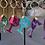 Thumbnail: Handcrafted Zodiac Designed Glitter Wine Glass -SAGITTARIUS