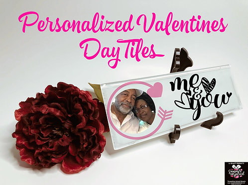 Valentines Day Personalized Themed Tile Decor