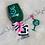 Thumbnail: Handcrafted Zodiac Designed Glitter Wine Glass & Keychain