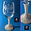 Thumbnail: Classy Etched Wine Glasses with Pearl Stem