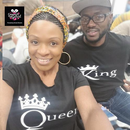 King & Queen Couple T-Shirt Set