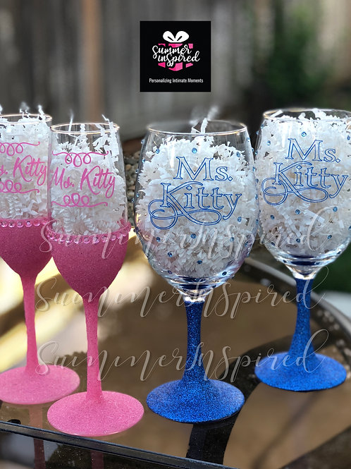 Glitter Custom Designed Glasses
