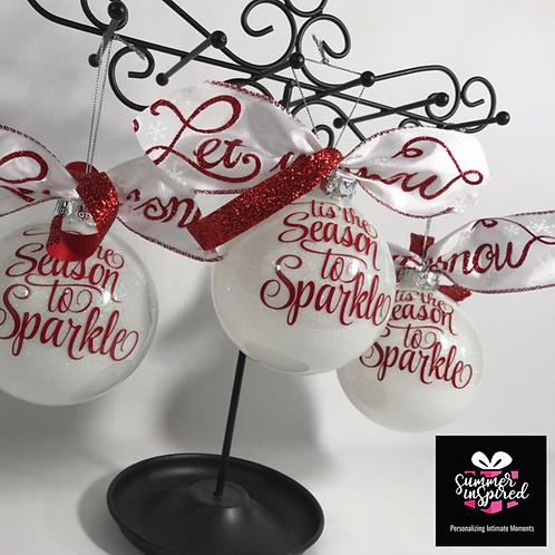 Custom Designed Glitter Ornaments