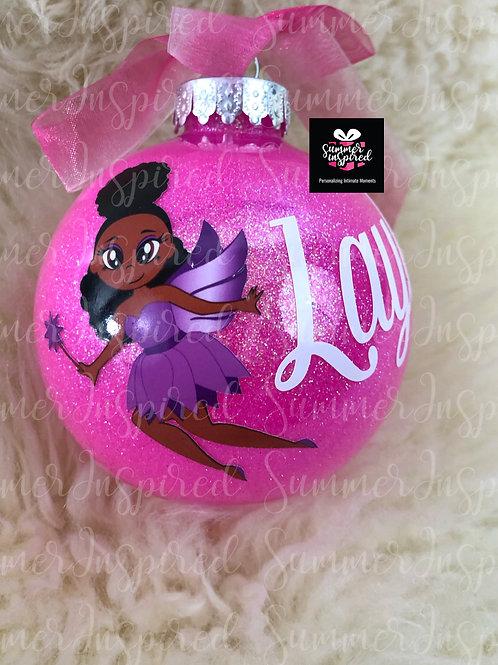Custom Glitter Chocolate Fairy Ornaments