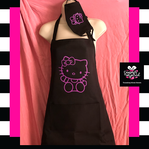 Personalized Unisex Apron and Face Cover Set