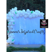 SIC Balloon Garland - Wedding -  White .