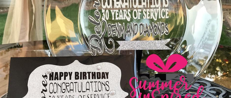 Decorative Plate & Matching Card - Gift Set
