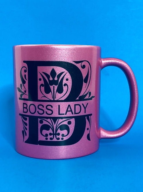 Boss Lady Custom Mugs - PINK