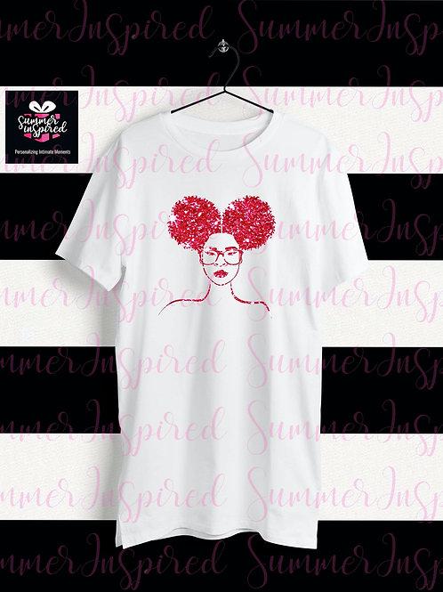 Glitter HTV Afro Puffs T-Shirt