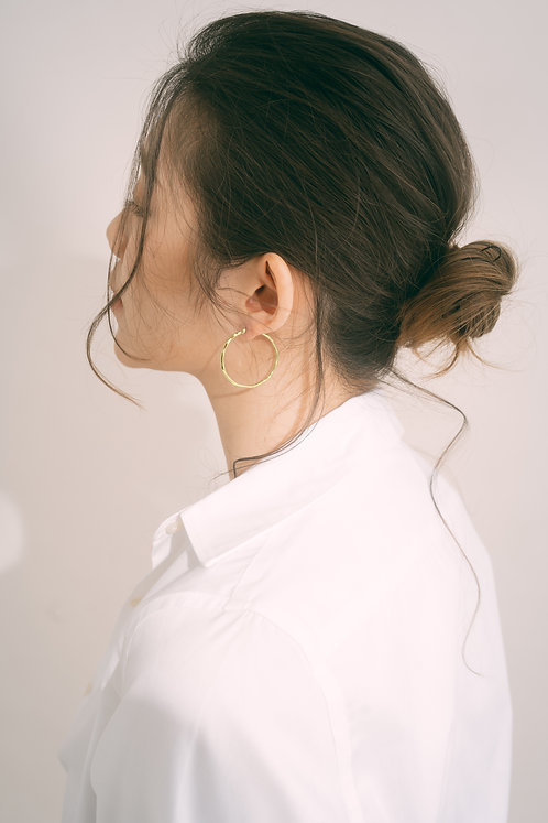 Perfect Imperfection Gold Hoops