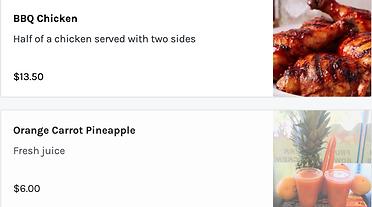 Image of Juice Unwind's menu