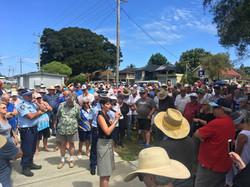 171128 Tea Gardens Police Station Rally