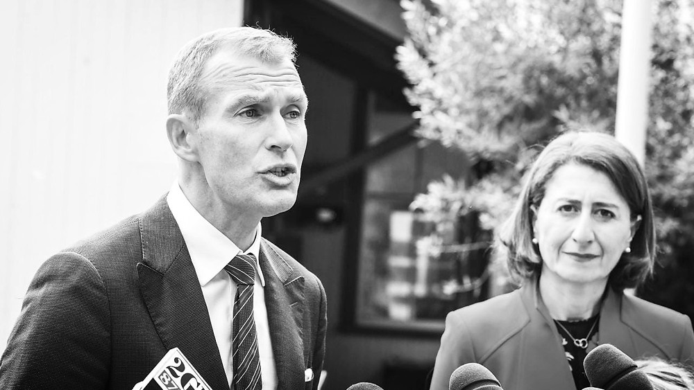 Education Minister Rob Stokes with Premier Gladys Berejiklian