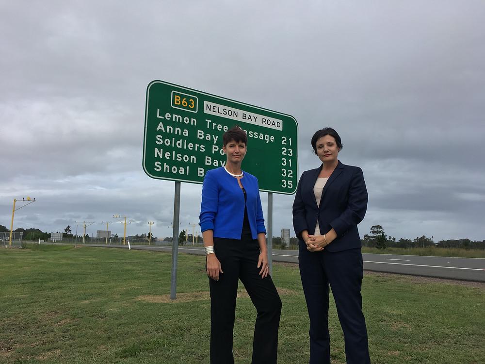 Kate Washington with Shadow Roads Minister Jodi McKay