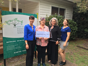 International Women's Day Proceeds Presented to Port Stephens Family and Neighbourhood Services