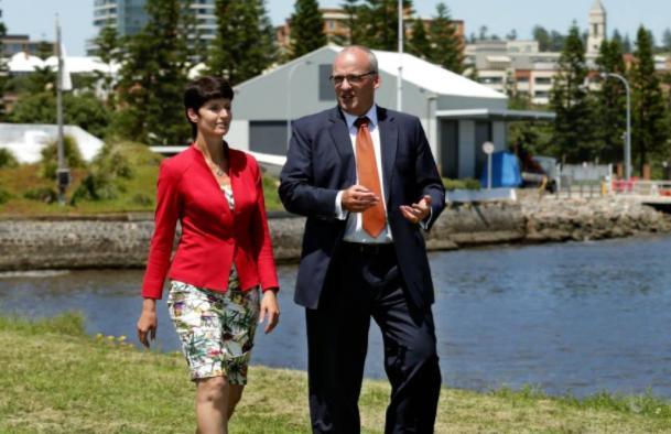 Kate Washington MP and Labor Leader Luke Foley