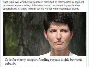 Newcastle Herald: Calls for clarity as sport funding reveals divide between suburbs