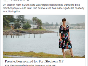 Port Stephens Examiner: Preselection secured for Port Stephens MP