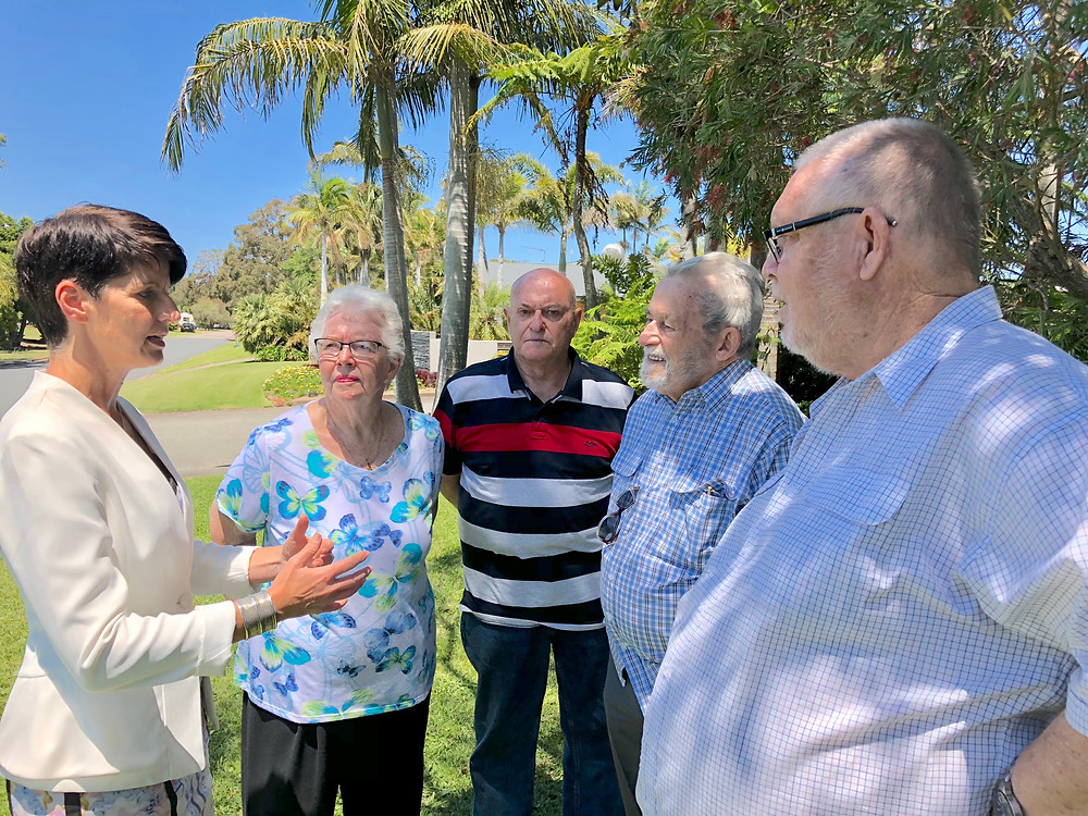Kate Washington MP with representatives from the Port Stephens Park Residents Association