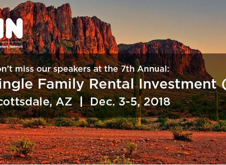 Dec 2018 – Thibault Adrien speaking at IMN Single Family Rental Conference - We are looking forward