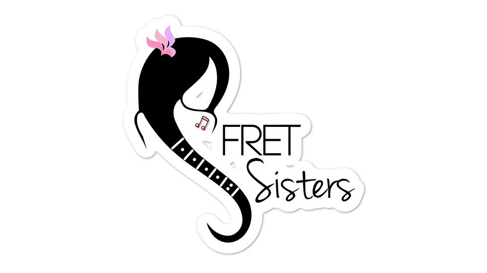 Fret Sisters Bubble-free stickers