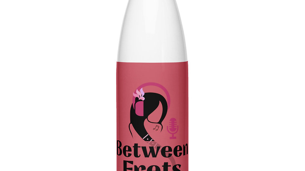 Podcast Pink Stainless Steel Water Bottle