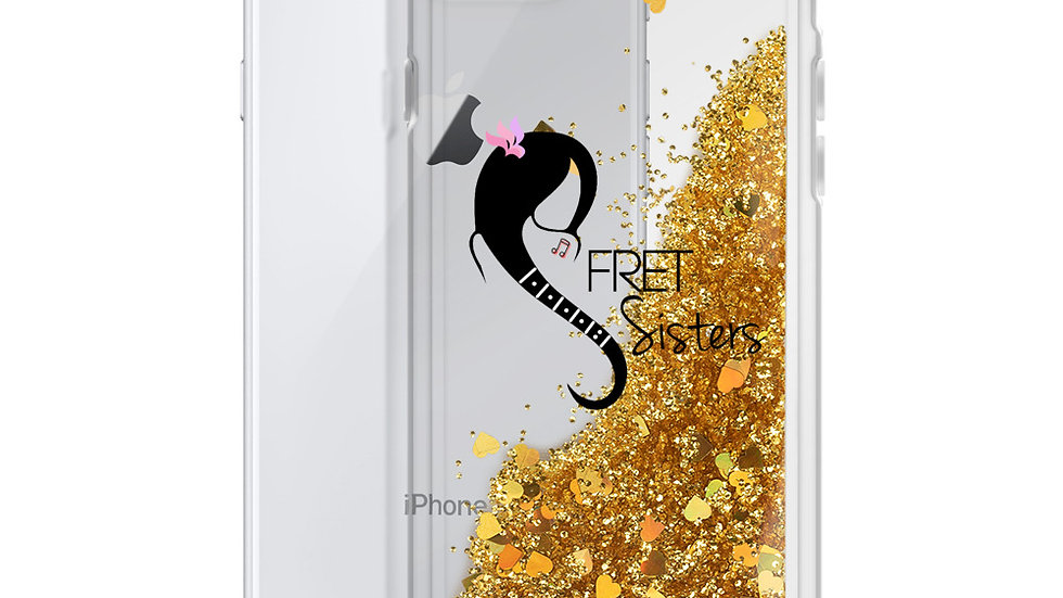 Fret Sisters Liquid Glitter Phone Case
