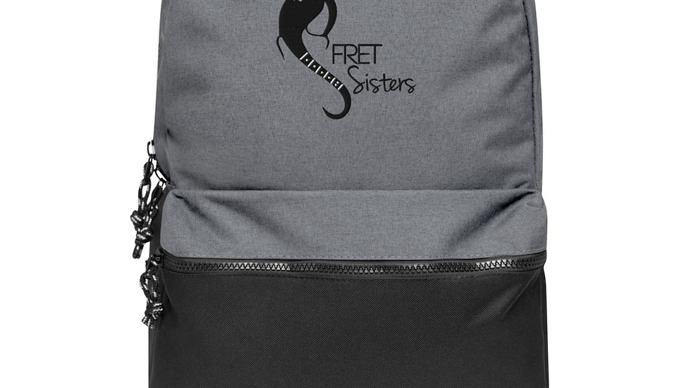 Fret Sisters Embroidered Champion Backpack