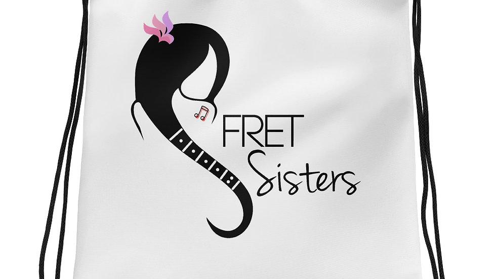 Fret Sisters Drawstring bag