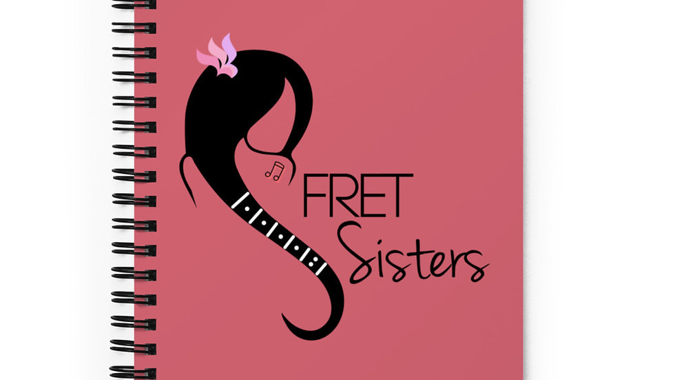 Fret Sisters Spiral notebook