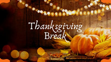 Reminder: We are closed Nov. 23 - Nov. 27 for Thanksgiving Break!