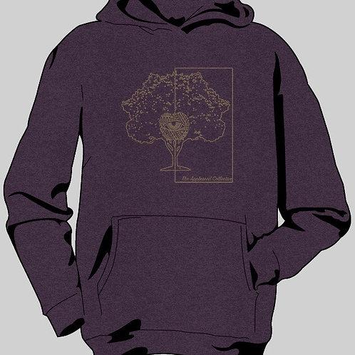 Vintage Purple Hooded Long Sleeve Tee