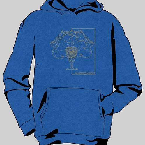 Vintage Blue Hooded Long Sleeve Tee