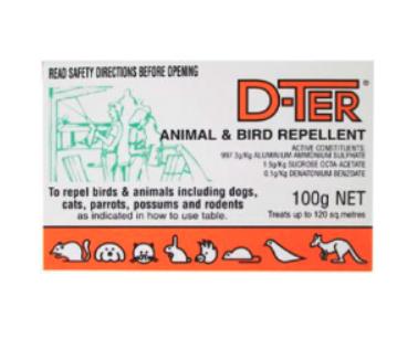 D-Ter Animal & Bird Repellent 100g