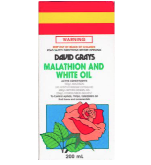 David Grays Malathion and White Oil 200ml