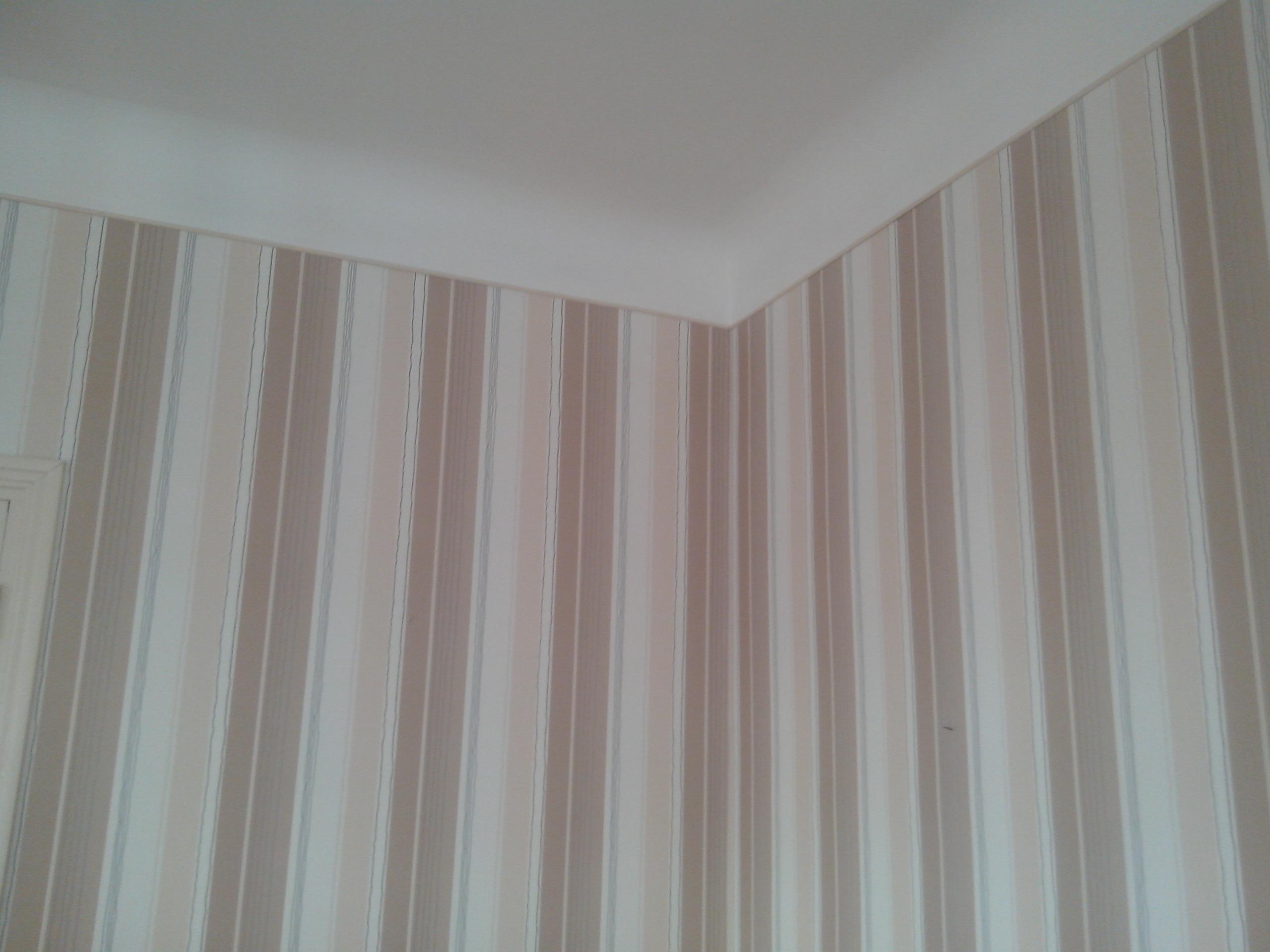 rénovation avec tapisserie
