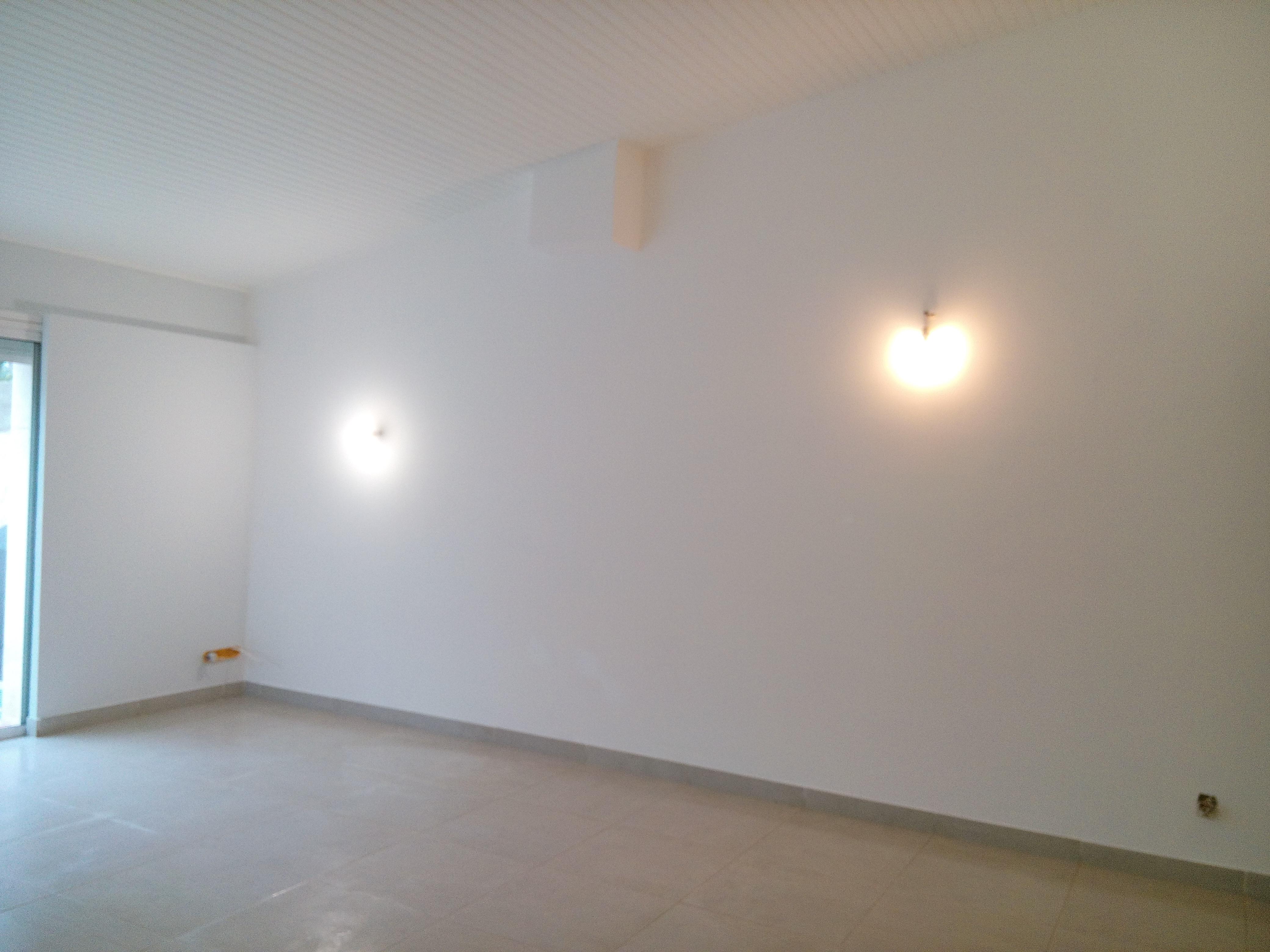 Mur peint en blanc