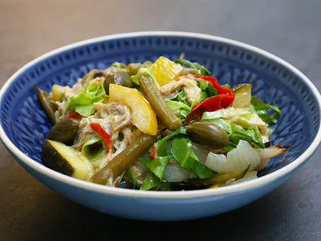 Immune supportive 'Shredded chicken with Lemon & Capers'