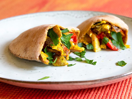 Post Yoga Breakfast GF Pittas - joint, muscle and immune supportive and delicious!